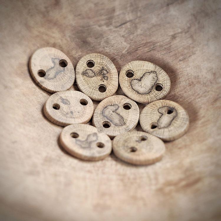 Componenti per collane in legno di quercia