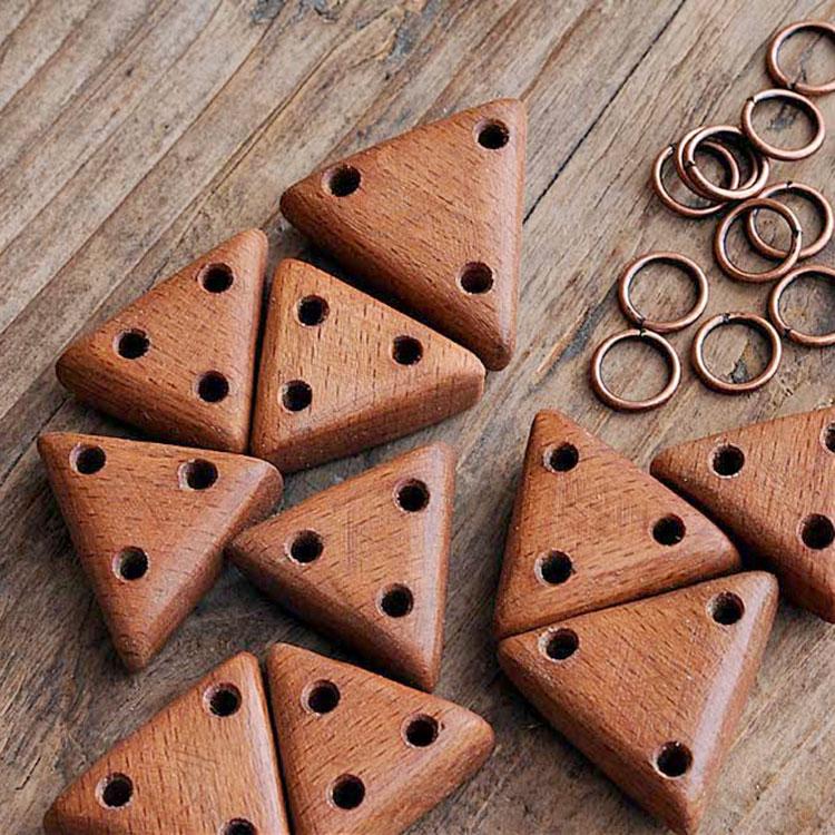 Componenti per collane in legno